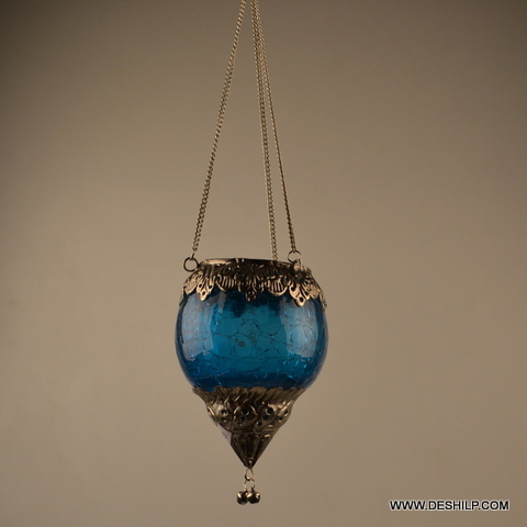 CREAK GLASS HANGING CANDLE HOLDER