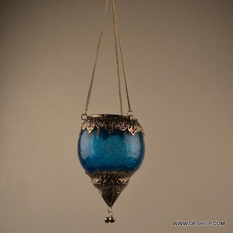 CREAK GLASS HANGING CANDLE HOLDER