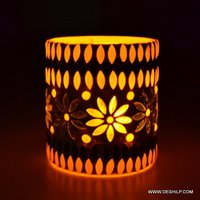 Mosaic Glass Votive Tealight Candle Holder
