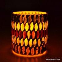 Mosaic Glass Shape Votive Tealight Candle Holder