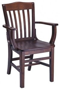 Cross Back Arm Chair