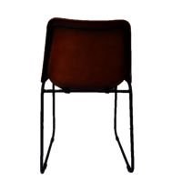 Iron Pipe Bar Chair With Leather Coated Seats