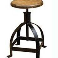 Iron & Wooden Combination Bar Stool