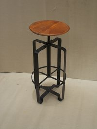 Bar Stool With Cast Iron Base