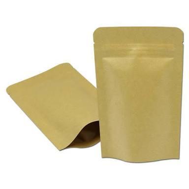 Paper zipper pouch