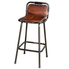 Iron Pipe Bar Chair With Wooden Back And Seat