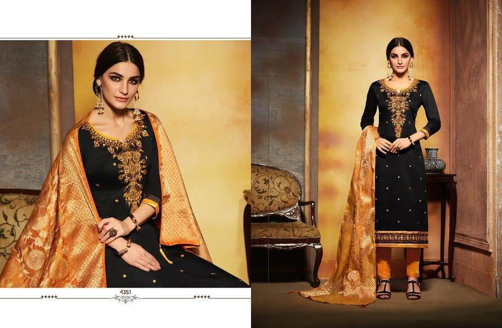 Cotton Silk Embroidery Suit