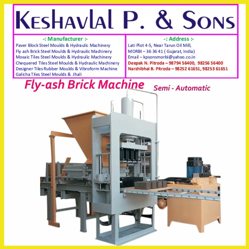 Semi Automatic Fly ash brick Machine