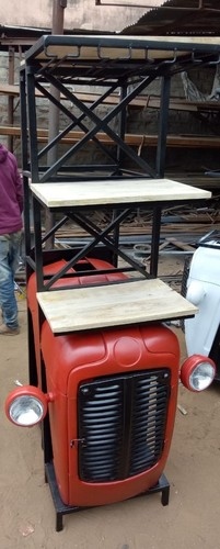 tractor bar counter with shelf