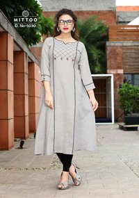 Mittoo Long Rayon Cotton Kurtis