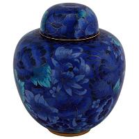 Azure Blue Cloisonne Urn