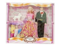 11inch doll solid body female & empty body male