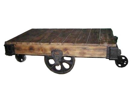 Industrial Cart Table Three Wheels