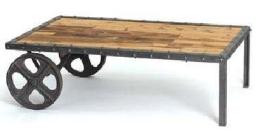 Industrial Cart Table Two Wheels