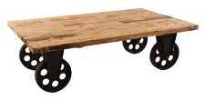 Industrial Cart Table Four Wheels