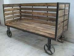 Industrial Cart Bench Four Wheels