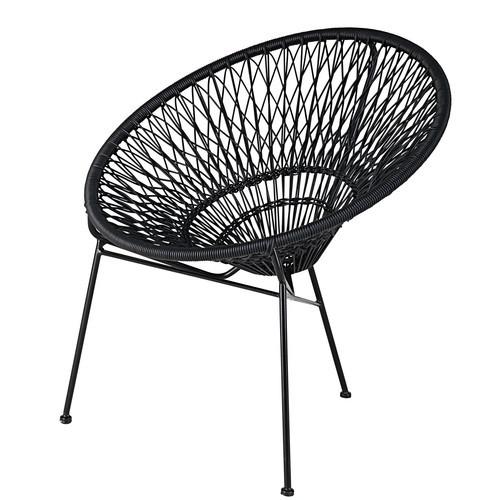 Woven Stackable Garden Arm Rest Chair