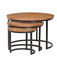 Round Three Pieces Nesting Table