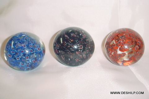 DECOR GLASS PAPER WEIGHTS