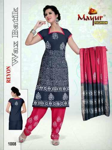 100 % Reyon Wax batik Dress Materials