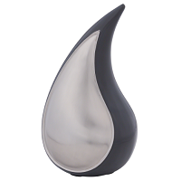 Solace Gray Teardrop Urn