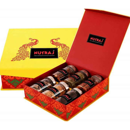 6 Jars Dry Fruit Gift Box