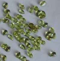 PERIDOT CABUTIONS CUT  POLISHED STONE