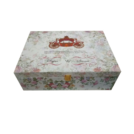 Floral Print Wedding Box