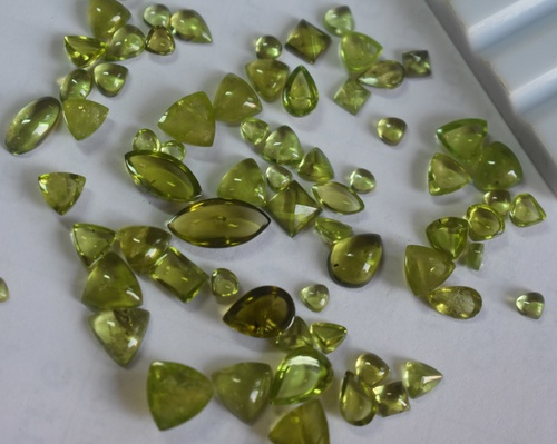 PERIDOT FANCY CABUTIONS POLISHED STONE