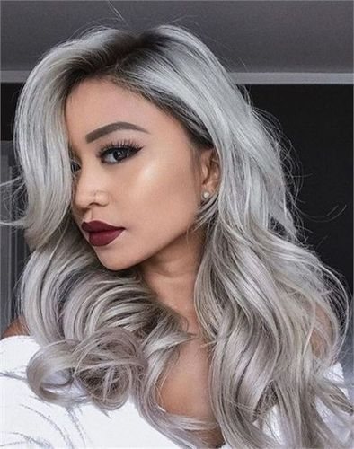 100% Silver Virgin Elite Indian Remy Straight