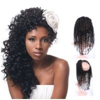 Curly Virgin Remy Hair 360 Closure Wig