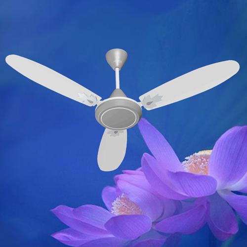 White Concord Gray Ceiling Fan