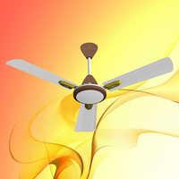 White Brown Ceiling Fan