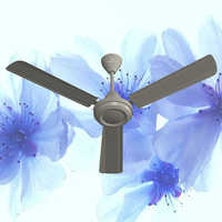 Metallic Silver Ceiling Fan