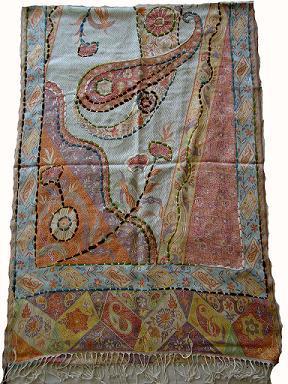 Viscose Hand Embroidery Shawl