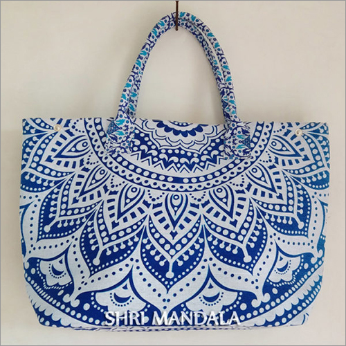 Daisy Blue Ombre Ladies Handmade Handbag