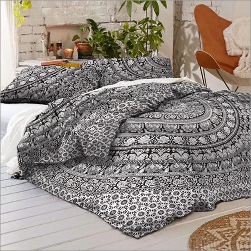 Elephant Mandala Queen Size Duvet Quilt Cover Set