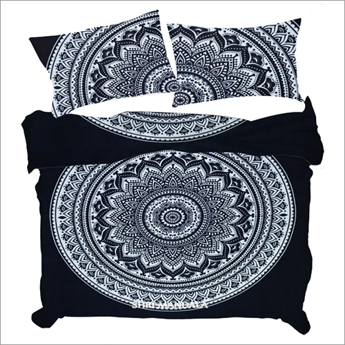 Black and White Indian Hippie Mandala Duvet Cover Queen Size Quilt Cover