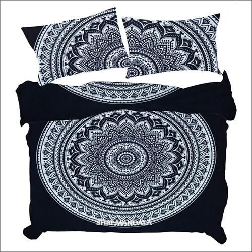 Black White Satin Duvet Cover