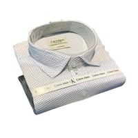 Mens White Dotted Shirt
