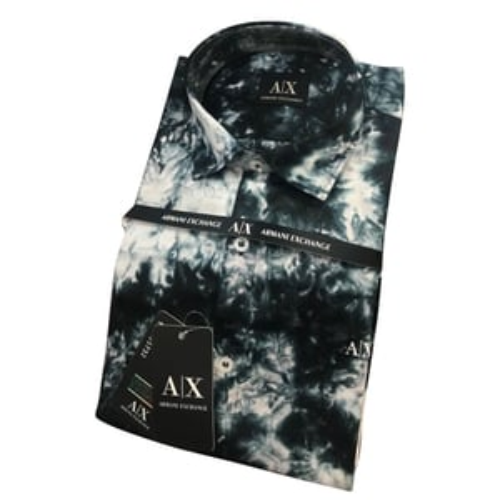 Mens Black Printed Shirt