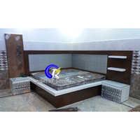 Corner Wooden Bed