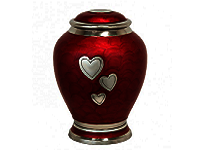 Cashmere Red Hearts Urn