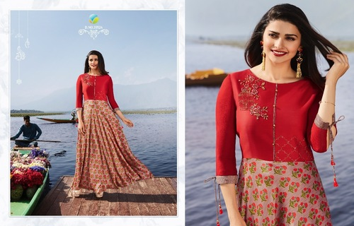 STYLISH ANARKALI LONG KURTIS ( VINAY FASHIONS )