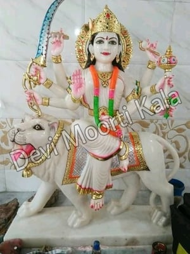 White Marble Durga Mata Idols