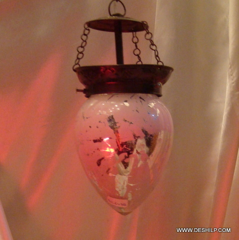 SILVER GLASS DECOR SMALL HANGING