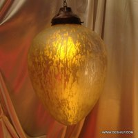 Decor Golden Color Glass Wall Hanging
