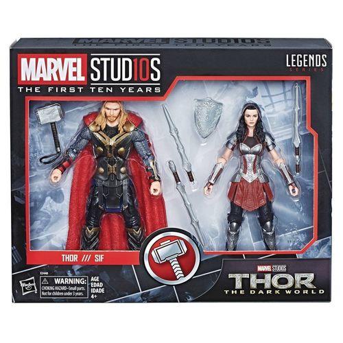 Hasbro Marvel Legends 10th Anniversary Thor & Sif Set NEW Dark World