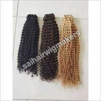 Curly Wefted Hair
