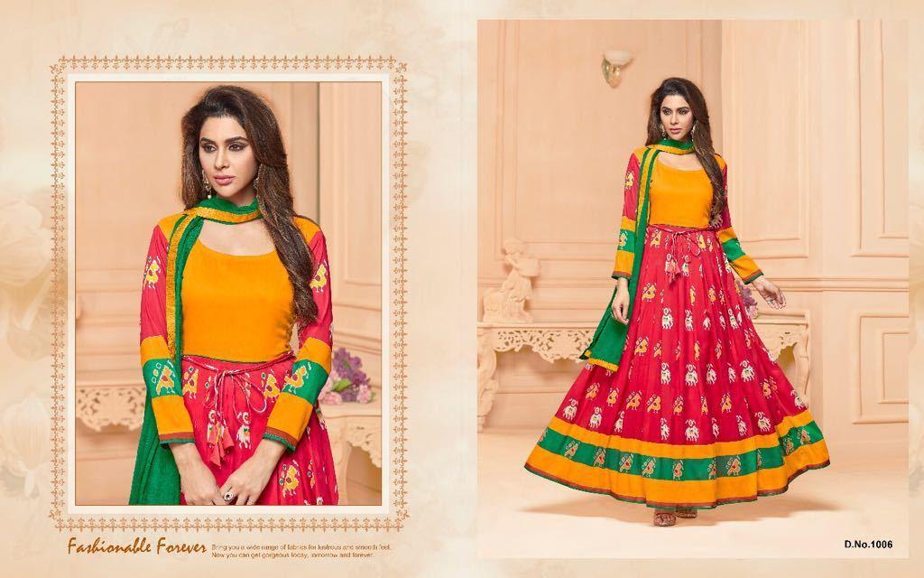 Digital Printed Anarkali Suits